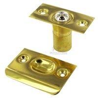 Deltana Hardware - Door Catches - Solid Brass Ball Catch in PVD Brass