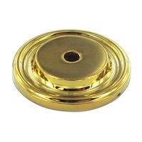 "Deltana Hardware - Solid Brass Knobs - Solid Brass 1 1/2"" Diameter Knob Backplate in PVD Brass"