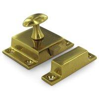 Deltana Hardware - Solid Brass Cabinet Locks - Solid Brass Large Cabinet Lock in PVD Brass