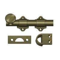 """Deltana Hardware - Heavy Duty Dutch Door Bolt - Solid Brass 4"""" Heavy Duty Dutch Door Bolt in PVD Brass"""