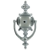 Deltana Hardware - Door Accessories - Solid Brass Imperial Door Knocker in Polished Chrome