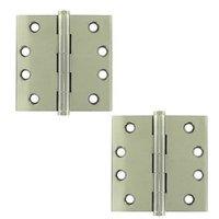 "Deltana Hardware - Solid Brass Door Hinges - Solid Brass 4"" x 4"" Standard Square Door Hinge (Sold as a Pair) in Oil Rubbed Bronze"