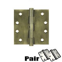 Deltana Hardware - Solid Brass Door Hinges - Removable Pin Square Door Hinge (Sold as a Pair) in Oil Rubbed Bronze