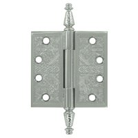"Deltana Hardware - Solid Brass Ornate Door Hinges - Solid Brass 4"" x 4"" Square Door Hinge (Sold as a Pair) in Oil Rubbed Bronze"