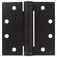 "Deltana Hardware - Spring Hinges - 4 1/2"" x 4 1/2"" Standard Square Spring Door Hinge (Sold Individually) in Oil Rubbed Bronze"