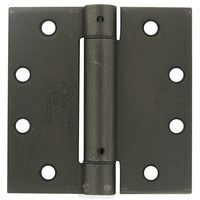 "Deltana Hardware - Spring Hinges - 4 1/2"" x 4 1/2"" Standard Square Spring Door Hinge (Sold Individually) in Antique Nickel"