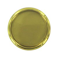 "Deltana Hardware - Solid Brass Flush Pulls - Solid Brass 2 1/8"" Diameter Round Flush Pull in PVD Brass"