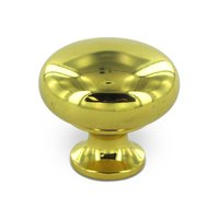 """Deltana Hardware - Solid Brass Knobs - Solid Brass 1 1/4"""" Diameter Solid Round Knob in PVD Brass"""