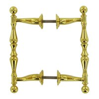 "Deltana Hardware - Solid Brass Offset Handle Pulls - Solid Brass 4 3/16"" Centers Off Set Back to Back in PVD Brass"