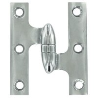 """Deltana Hardware - Solid Brass Olive Knuckle Hinges - Solid Brass 3"""" x 2 1/2"""" Left Handed Olive Knuckle Door Hinge (Sold Individually) in Oil Rubbed Bronze"""