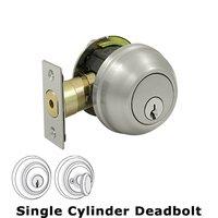 Deltana Hardware - Solid Brass Port Royal Deadbolts - Solid Brass Port Royal Deadbolt Lock Grade 2 in Brushed Nickel