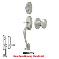 Deltana Hardware - Riversdale - Riversdale Handleset with Round Knob Dummy in Brushed Nickel