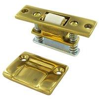 Deltana Hardware - Door Catches - Solid Brass Heavy Duty Roller Catch in PVD Brass
