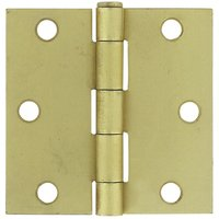 "Deltana Hardware - Steel Hinges - 3"" x 3"" Residential Square Door Hinge (Sold as a Pair) in Oil Rubbed Bronze"