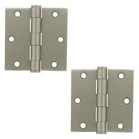 "Deltana Hardware - Steel Hinges - 3 1/2"" x 3 1/2"" Heavy Duty Square Door Hinge (Sold as a Pair) in Oil Rubbed Bronze"