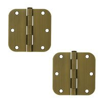 "Deltana Hardware - Steel Hinges - 3 1/2"" x 3 1/2"" 5/8"" Radius/Residential Door Hinge (Sold as a Pair) in Oil Rubbed Bronze"