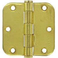 "Deltana Hardware - Steel Hinges - 3 1/2"" x 3 1/2"" 5/8"" Radius/Heavy Duty Door Hinge (Sold as a Pair) in Oil Rubbed Bronze"