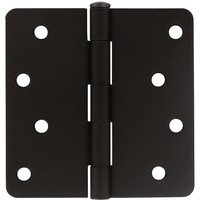 "Deltana Hardware - Steel Hinges - 4"" x 4"" 1/4"" Radius/Residential Door Hinge (Sold as a Pair) in Oil Rubbed Bronze"