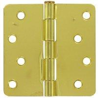 "Deltana Hardware - Steel Hinges - 4"" x 4"" 1/4"" Radius/Residential Door Hinge (Sold as a Pair) in Oil Rubbed Bronze"
