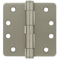 "Deltana Hardware - Steel Hinges - 4"" x 4"" 1/4"" Radius/Heavy Duty Door Hinge (Sold as a Pair) in Oil Rubbed Bronze"
