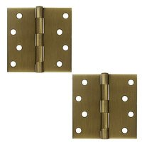 "Deltana Hardware - Steel Hinges - 4"" x 4"" Residential Square Door Hinge (Sold as a Pair) in Oil Rubbed Bronze"