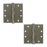 """Deltana Hardware - Steel Hinges - 4 1/2"""" x 4 1/2"""" 2 Ball Bearing/Heavy Duty Square Door Hinge (Sold as a Pair) in Oil Rubbed Bronze"""