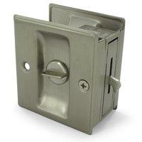 """Deltana Hardware - Solid Brass Pocket Locks - Solid Brass 2 1/2"""" x 2 3/4"""" Privacy Pocket Lock in PVD Brass"""