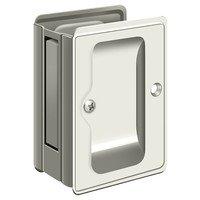 "Deltana Hardware - Solid Brass Pocket Locks - Solid Brass Adjustable 3 1/4"" x 2 1/4"" Heavy Duty Privacy Pocket Lock in Polished Chrome"
