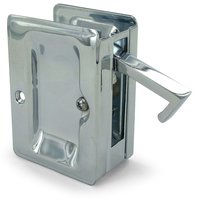 "Deltana Hardware - Solid Brass Pocket Locks - Solid Brass Adjustable 3 1/4"" x 2 1/4"" Heavy Duty Passage Pocket Lock in Chrome"