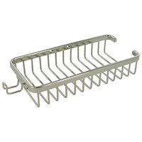 "Deltana Hardware - Solid Brass Bathroom Baskets - Solid Brass 10"" Rectangular Wire Basket with Hook in PVD Brass"