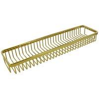 """Deltana Hardware - Solid Brass Bathroom Baskets - Solid Brass 18"""" Rectangular Wire Basket in PVD Brass"""