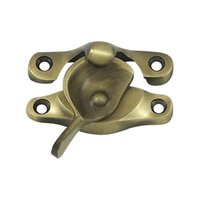 "Deltana Hardware - Window Hardware - Solid Brass 15/16"" x 2 5/8"" Window Sash Lock in PVD Brass"