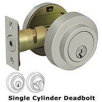 Deltana Hardware - Zinc Deadbolts - Zinc Modern Low Profile Deadbolt Lock Grade 3 in Brushed Nickel