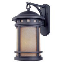 Designers Fountain - Sedona - Exterior Wall Lantern in Oil Rubbed Bronze with Amber