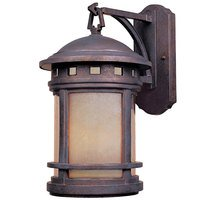 "Designers Fountain - Sedona - 11"" Wall Lantern in Mediterranean Patina with Amber"