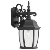 Designers Fountain - Tiverton - Exterior Wall Lantern in Black with Clear