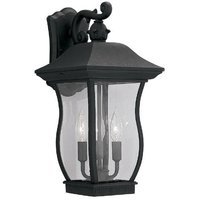 Designers Fountain - Chelsea - Exterior Wall Lantern in Black with Clear