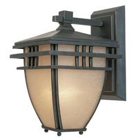 Designers Fountain - Dayton - Exterior Wall Lantern in Aged Bronze Patina with Ochere