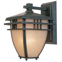"Designers Fountain - Dayton - 9"" Wall Lantern in Aged Bronze Patina with Ochere"