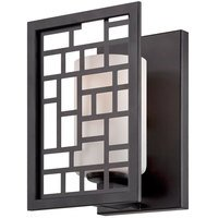 Designers Fountain - Trellis - Wall Sconce in Oil Rubbed Bronze with Frosted White Inside