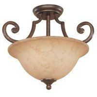 Designers Fountain - Mendocino - Interior Semi-Flush in Forged Sienna with Warm Amber Glaze
