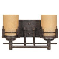 Designers Fountain - Mission Ridge - Interior Bath / Vanity / Wall Sconce in Warm Mahogany with Navajo Dust