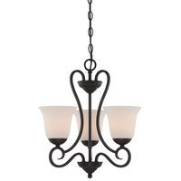 Designers Fountain - Addison - 3 Light Chandelier in Oil Rubbed Bronze with Frosted