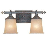 Designers Fountain - Austin - Interior Bath / Vanity / Wall Sconce in Weathered Saddle with Satin Crepe