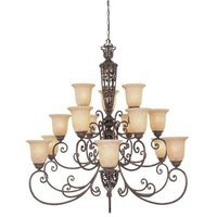 Designers Fountain - Amherst - Interior Chandelier in Burnt Umber with Antique Harvest Beige