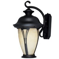 "Designers Fountain - Westchester - 11"" Wall Lantern - Energy Star in Bronze with Amber"