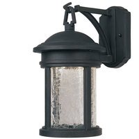 """Designers Fountain - Prado - 7"""" LED Wall in Oil Rubbed Bronze with Clear Crackle"""