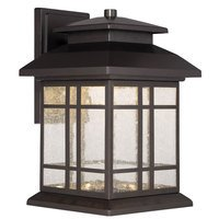 "Designers Fountain - Piedmont - 6"" LED Wall Lantern in Oil Rubbed Bronze with Clear Seedy"