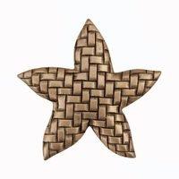 "Acorn MFG - Artisan - 1 3/4"" Woven Star Knob in Museum Gold"