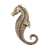 "Acorn MFG - Artisan - 2 1/4"" Seahorse Knob in Antique Brass"